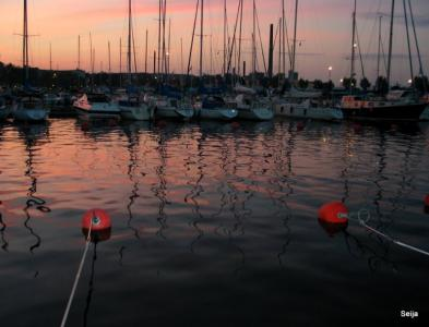 Sunset in Kotka Meriniemi Marina